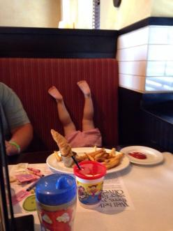 When you take your toddler out for a nice dinner...