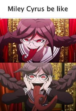 Dat Tongue Though (  ͡° ͜ʖ ͡°) (Anime Is Danganronpa, Char Is Genocider Syo)