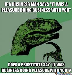 Does A Prostitute Say...