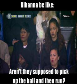 Rihanna Watching Paris Saint-Germain Vs Olympique De Marseille