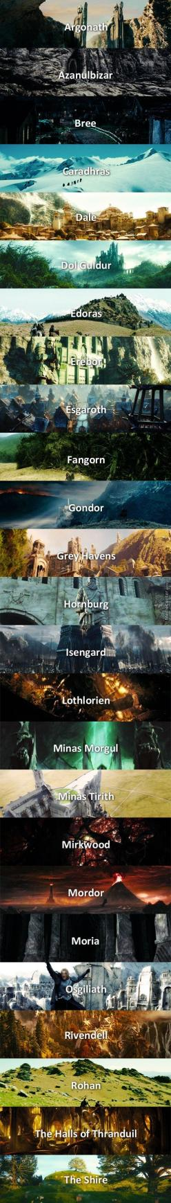 The Middle Earth Of Tolkien.