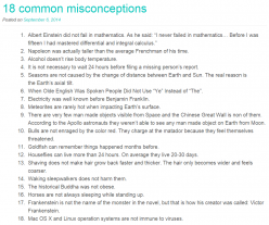 18 common misconceptions