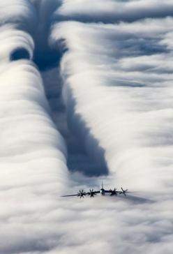 Cruising On Top Of The Clouds