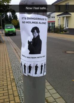 It's Dangerous To Go Holmes Alone
