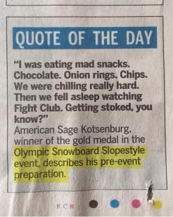 Snowboarders know how to prepare for the Olympics