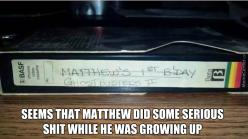 Matthew Blew It Up