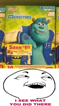 To Those Who Don't Know, It's A Joke From The Original Monsters Inc.