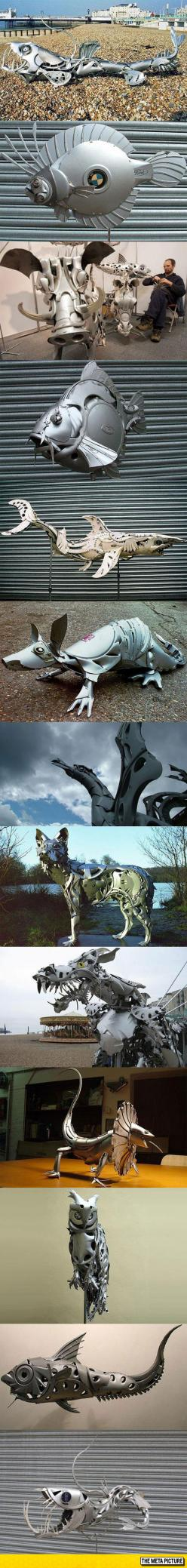 Awesome Hubcap Sculptures