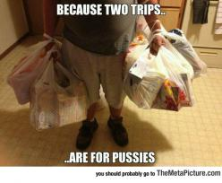 Carrying The Groceries
