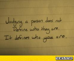 Judging Someone
