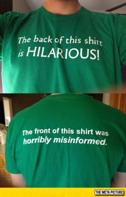 Look At The Back Of This Shirt