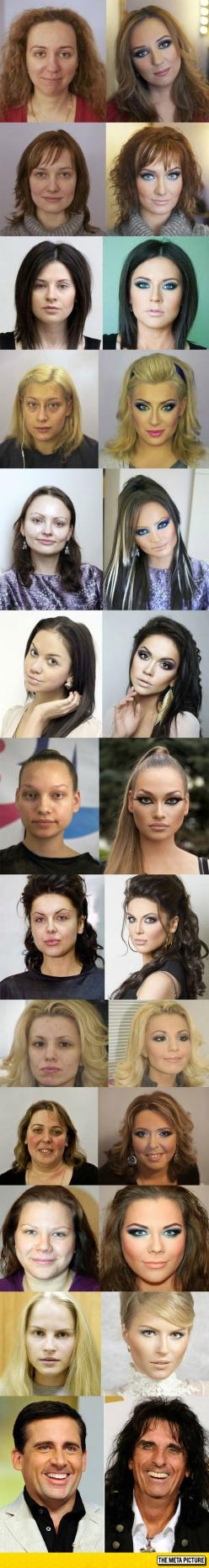 Makeup Transformation, Before And After