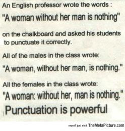 Punctuation Is Really Powerful