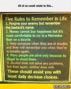 Rules To Remember In Life