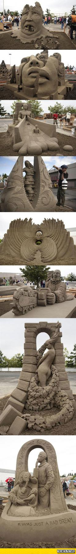 Sand Sculpting At Its Best