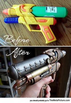 Steampunk Water Gun Looks Awesome