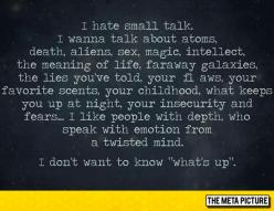 The Truth About Small Talk