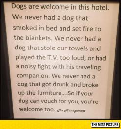 This Hotel's Policy Is Priceless