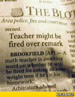 This Teacher Is In Trouble