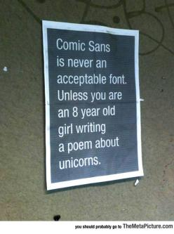 Truth About Comic Sans
