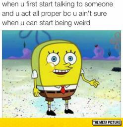 When You Meet Someone For The First Time