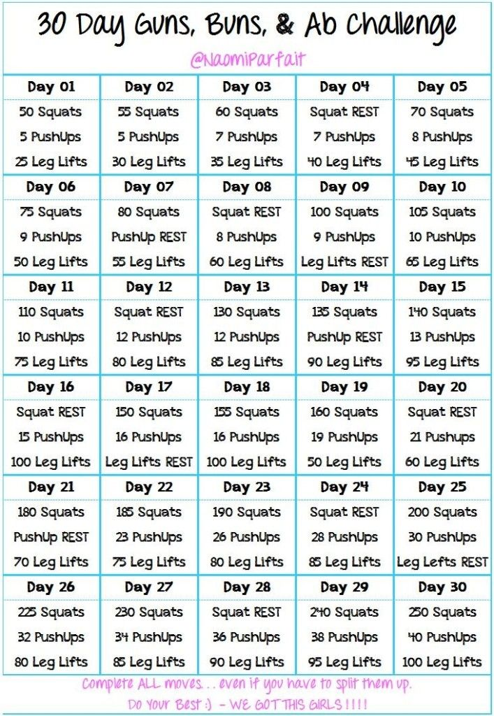 30 Days Guns, Buns and Ab Challenge - Favorite Pins !: 30 Day Challenge, Guns Buns, 30 Days, Ab Challenge, Exercise, Work Out, Buns Ab, Workout