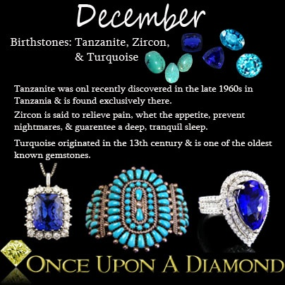 December Birthstone Information & Lore  #December #Turquoise #Tanzanite: December Baby, December Birthstones And, 12 December, Birthstones December, Birthday Capricorn Birthstones, Sagittarius Baby, Birthstone December, Boogschutter Sagittarius