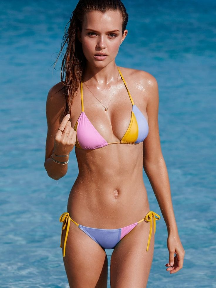 Josephine Skriver Flaunts Swimsuit Body in Victoria's Secret Photos: Josephine Writing, Sexy, Bikinis, Swimwear, Victoria Secret Swim, Beach, Victoria S Secret, Triangle Top