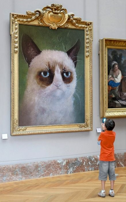 the one and only famous, Grumpy Cat: Cat Art, Animals, Grumpy Art, Cat Grumpycat, Funny Stuff, Grumpy Cat