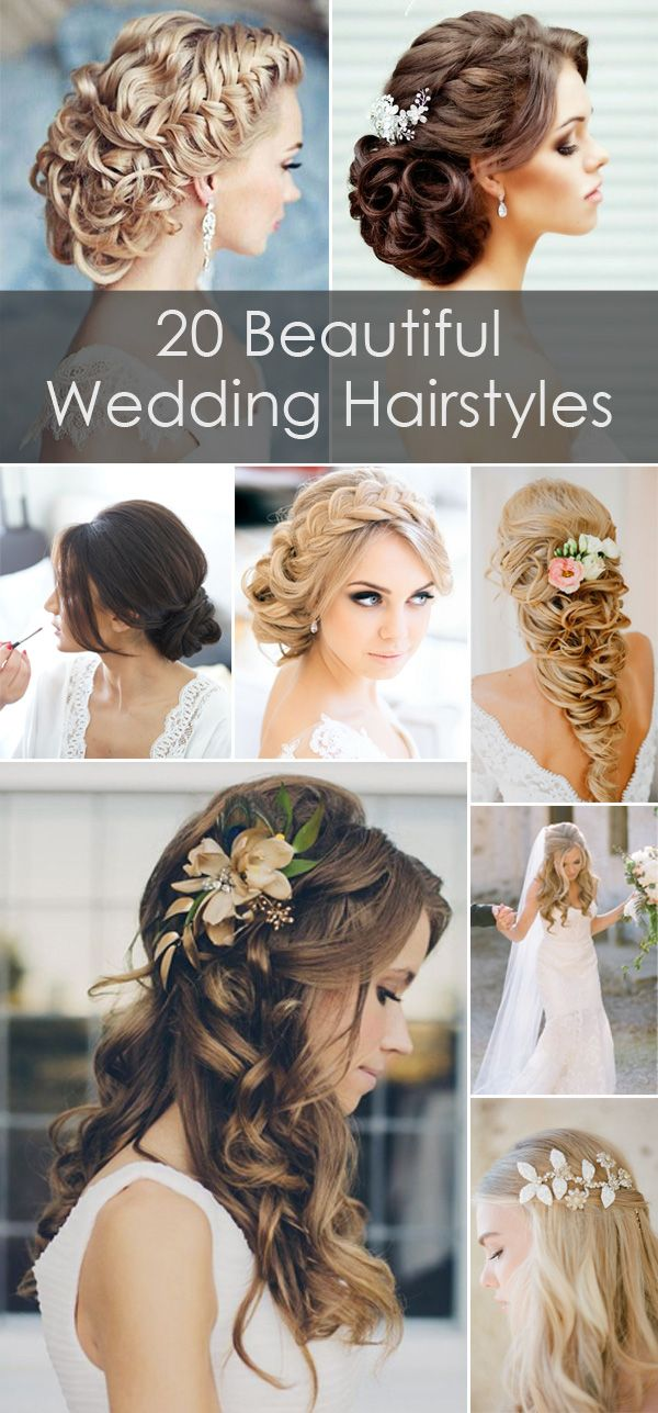 20 beautiful wedding hairstyles for long hairs: Romantic Wedding, Cool Wedding, Wedding Hair Flower, Hair Style, Bridesmaid Photo, Wedding Hairstyles, Wedding Hairstyles, Hairstyles For Long Hair