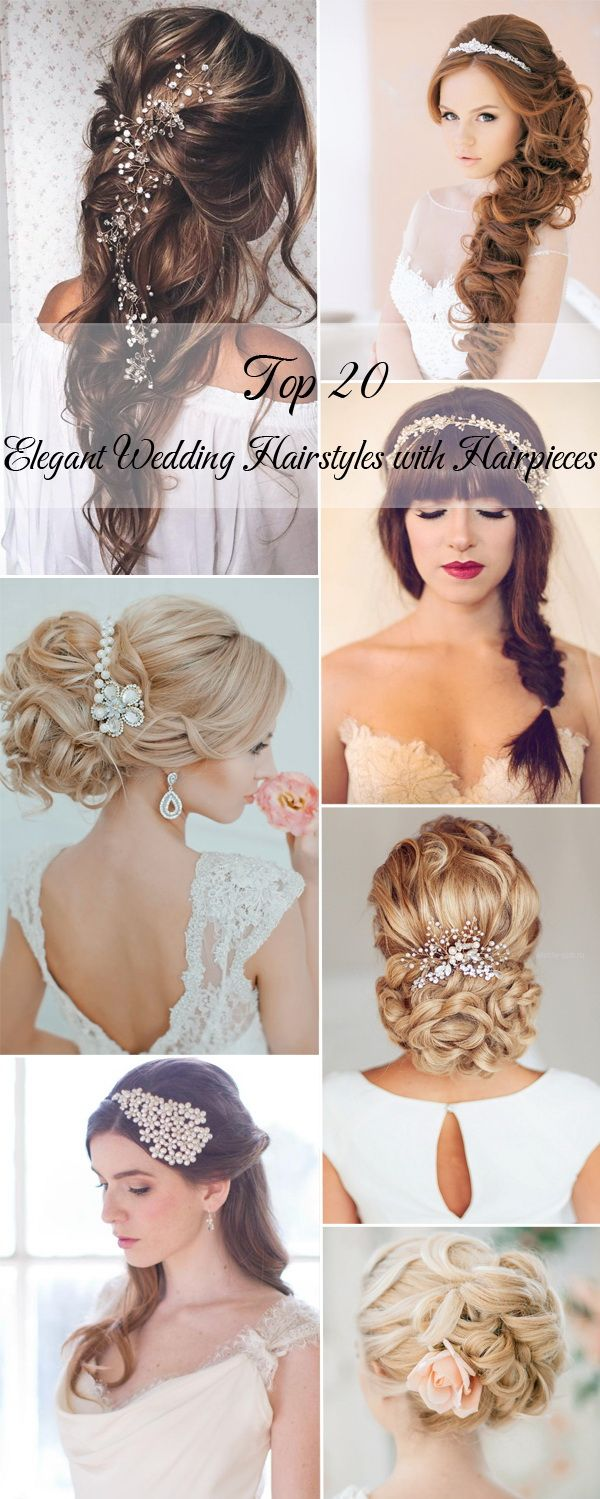 20 elegant wedding hairstyles with hairpieces: Lefrancq Wedding, Wedding, Cmd Wedding, Marriage Weddings, Hairstyles Beauty, Elegant Wedding Hairstyles, Bride, Hair, Hair Doo