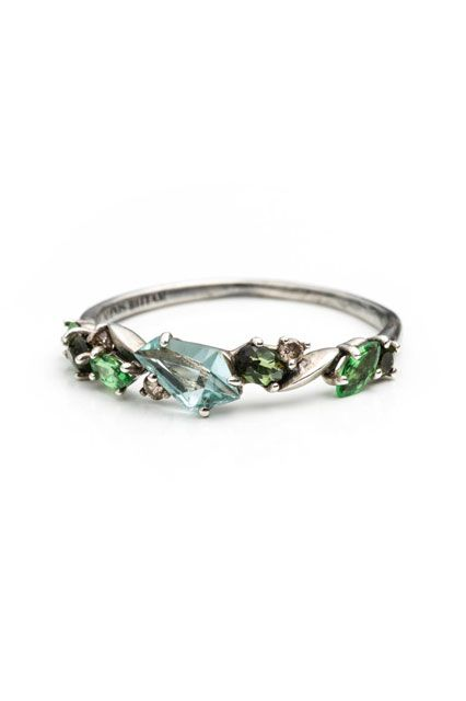 30 Dream Engagement Rings For The Anti-Diamond Girl #refinery29  http://www.refinery29.com/engagement-rings-diamond-alternatives#slide19: Colorful Engagement Ring, Cool Engagement Ring, Wedding Band, Green Emerald Engagement Ring, Colored Engagement Ring,