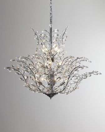 """""""Upside Down"""" Crystal Chandelier compare at:$2,995.00 Special Value:$1,699.90 Take 25% Off:$1274.92: Decor, Crystals, Dining Room, Crystal Chandeliers, Lighting, 18 Light Crystal, Master Bedroom, Upside, Neiman Marcus"""