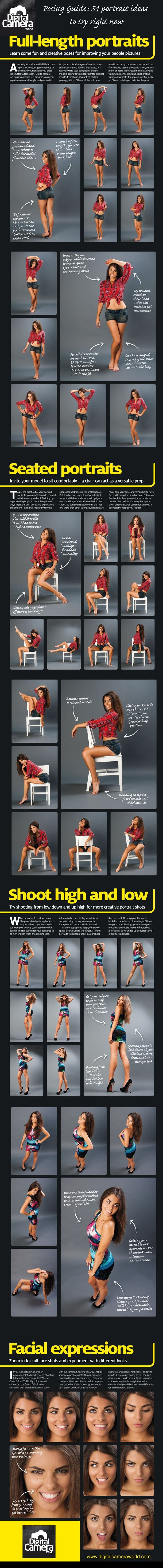 54 Very Creative Poses...Click Picture To See More...: Senior Picture, Idea, Senior Photo, Posing Guide, Cheat Sheet