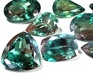 Alexandrite: ALEXANDRITE is more rare than diamond. It is one of only a couple color change gemstones! This means it actually changes color in different light! It is found in Russia, Brazil, India, and a few other locations. Alexandrite that is found in d