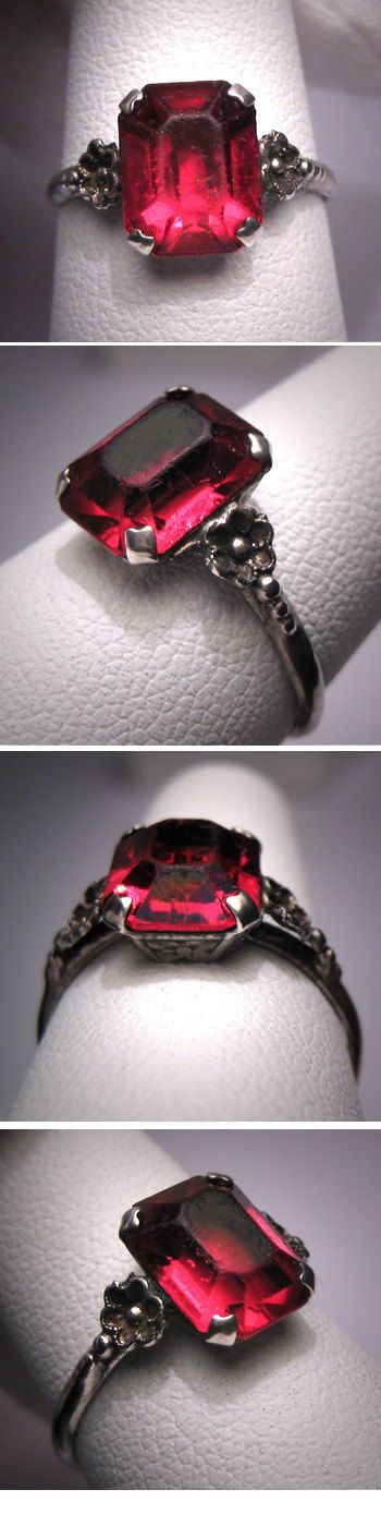 Antique Art Deco Ruby Wedding Ring Vintage by AawsombleiJewelry, $295.00: Antique Wedding Rings, Wedding Rings Art Deco, Deco Ruby, Wedding Ring Vintage, Antiques Rings, Antique Art, Wedding Rings Vintage Emerald, Ruby Wedding Rings