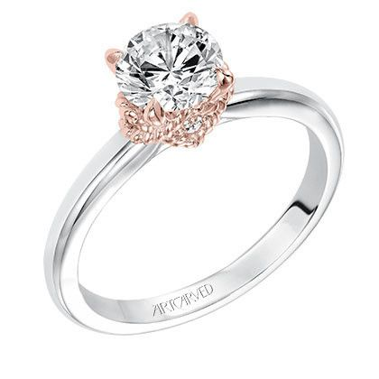 Artcarved Clarice Diamond Engagement Ring in 14kt White and Rose Gold · 31-V584CCW · Ben Garelick Jewelers: Diamond Engagement Rings, Engaged Engagementrings, Diamonds Are Forever, Gorgeous Rings, Rings Delux, Dream Wedding, Engagement Wedding, Wedding Ri