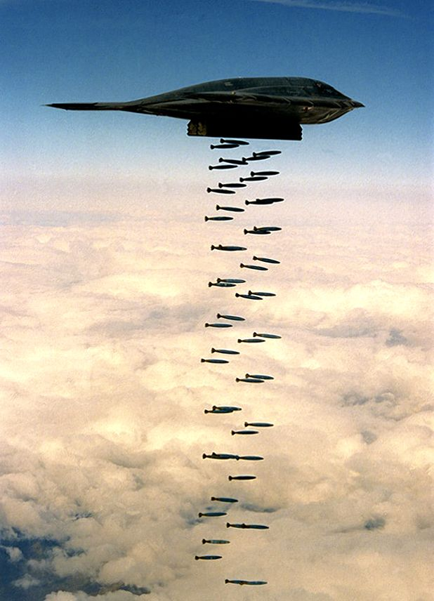 "B-2 Stealth ""Carpet Bombing"" - I do not like war but am so proud of our military and awestruck by what the USA is capable of!: Military Jet, Stealth Bomber, Aircraft, B 2 Stealth, Planes, War, Military Airplane"