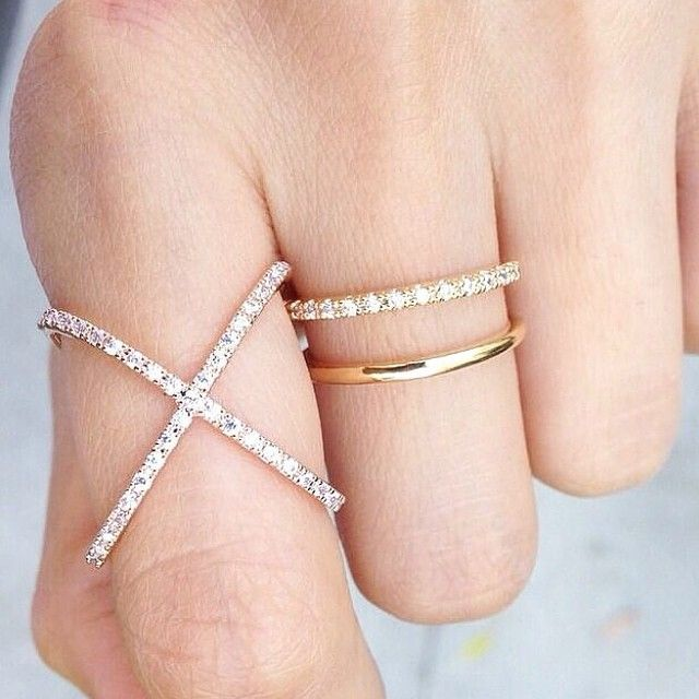 Beautiful Prima Ring by Princess P: Layered Rings, Prima Ring, Rings Necklaces Watches Spoil, Delicate Rings, Princess, Rings Watches Bracelets Etc, Style, Beautiful Prima, Middle Finger Rings