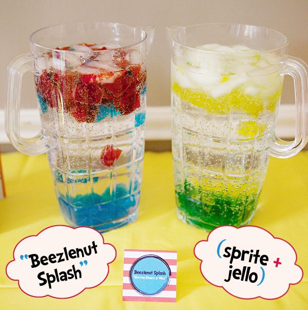 Beezlenut splash (inspired by Ihop's Horton Hears a Who special edition menu. Sprite, ice and colored jello).: 1St Birthday, Seuss Party, Dr Suess, Dr. Seuss, Party Ideas, Birthday Party, Dr Seuss, Birthday Ideas