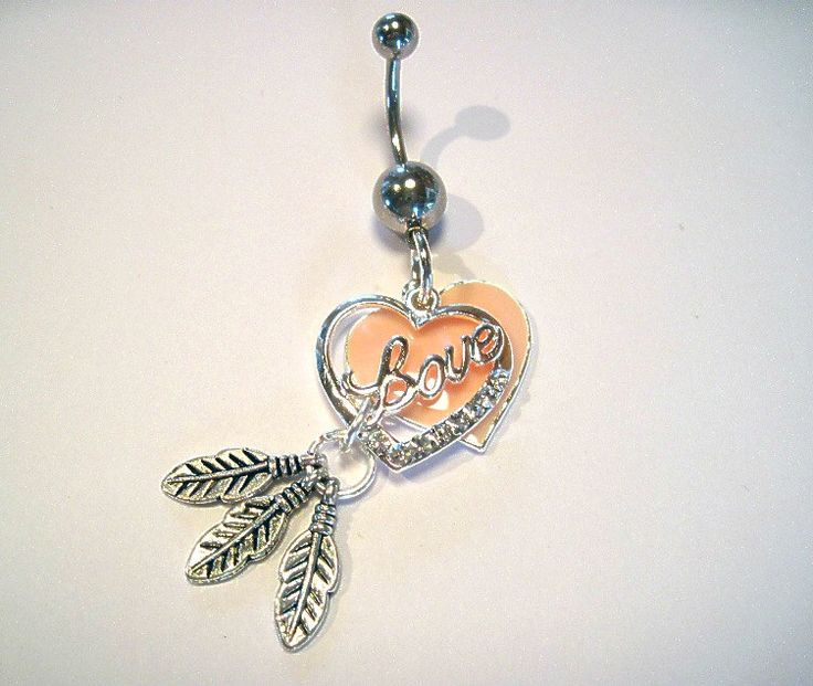 Belly Button Ring Barbell Clear Crystal Silver Tone 2 Hearts 3 Feathers. $16.00, via Etsy.: Belly Rings, Belly Button Piercings, Bellybutton Rings ️, Belly Button Rings Crystals, Piercings Bellybuttonrings, Piercings Belly Button, Belly Piercings Ring, He