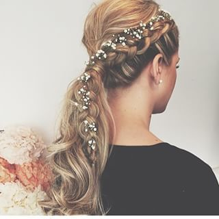 braided ponytail   ~  we ❤ this! moncheribridals.com  #bridalbraids: Babies, Braided Wedding Hairstyle, Hairstyles Makeup, Bridal Hair Dress Accesories, Hairstyle, Wedding Hairstyles, Flower