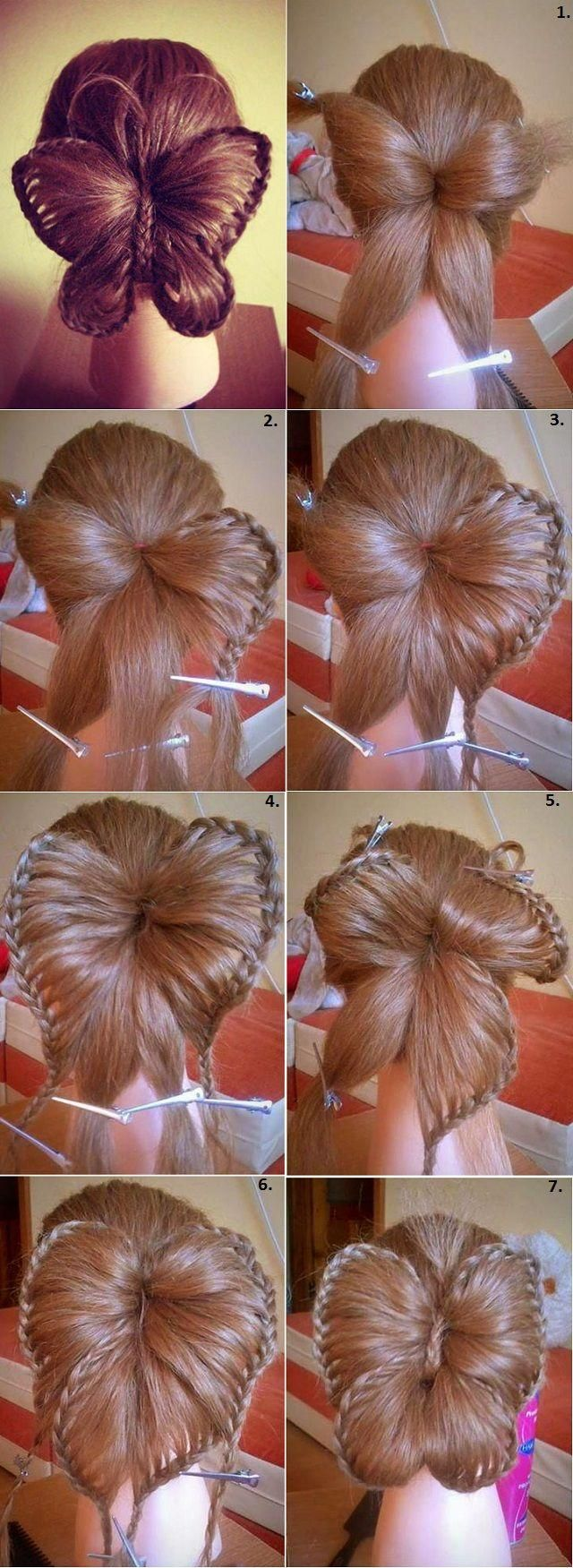 """Butterfly Hairstyle @Mindy Burton """"Cute Girls Hairstyles"""" Could you please do a video tutorial for this hairstyle? My sisters are begging for it :) Thank you!: Hair Ideas, Butterfly Hairstyle, Butterflies, Hair Styles, Cute Girls Hairstyles, Girl"""