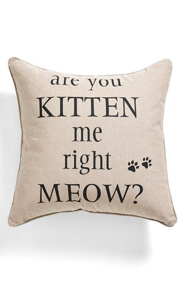 cat lady love!: Gift, Squares, Meow, Accent Pillows, Kittens, Cat Lady