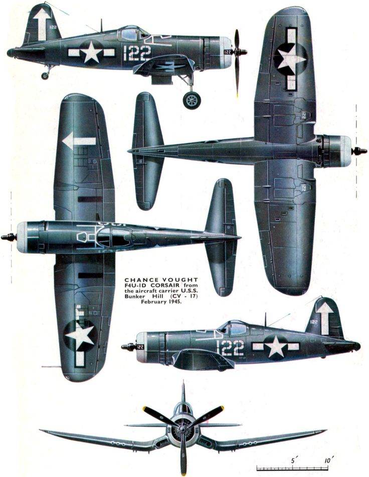 Chance Vought F4U-1D Corsair--I had one of these in a foam representation that you shot off a plastic aircraft carrier it was cool: Airplanes Airplanes, Aircrafts Aviones, Aircraft Carrier, F4U Corsair, F4U1 5View, Airplanes Color, War Ii