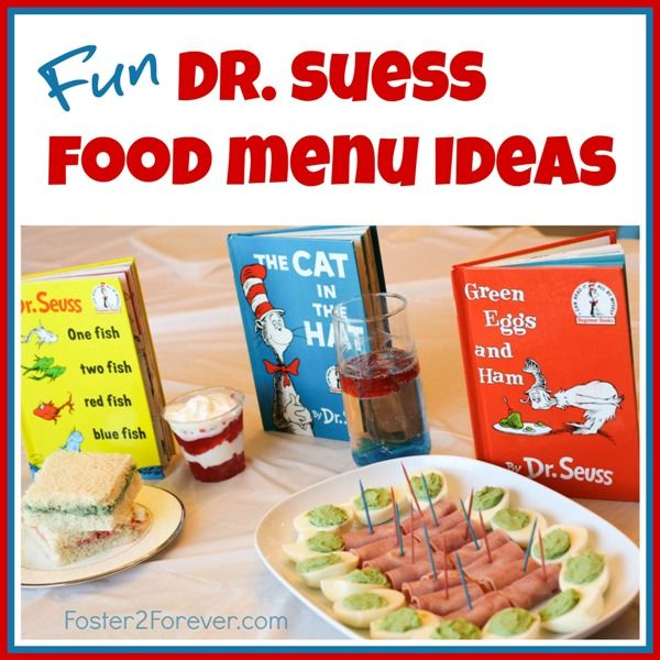 Check out this menu of snack food ideas for a Dr. Seuss-themed birthday party or baby shower!: Dr. Suess Baby Shower Ideas, Dr Seuss Birthday Ideas, Dr. Seuss Baby Shower Ideas, Menu Ideas, Activities, Dr Suess Baby Shower Ideas, Dr Seuss Birthday Party I