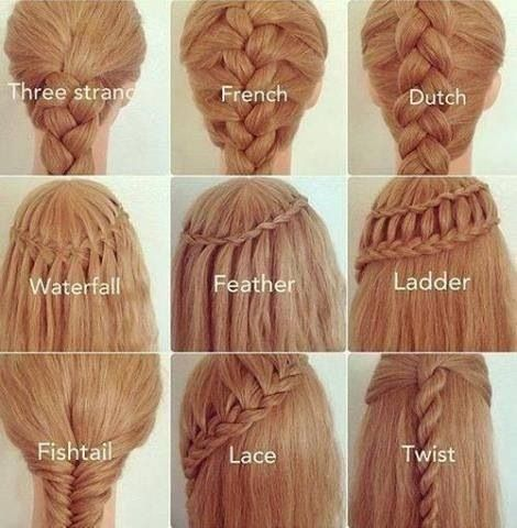 Cool which one would u choose: Hair Ideas, Hairstyles, Different Braids, Hair Styles, Makeup, Types Of Braids, Beauty