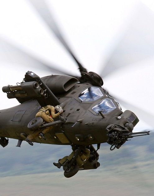 Does anyone know what army these guys are in and WHY their hanging onto the outside of a chopper in the first place!: Army, Aviation, Military Aircraft, Airplanes, Military Stuff, 129 Mangusta, Helicopters