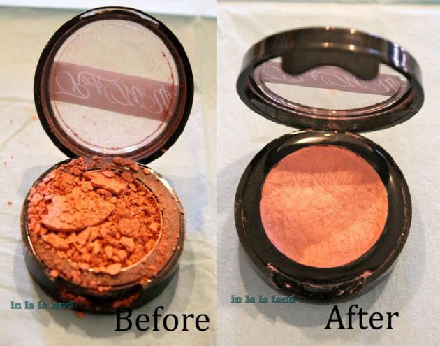 Every girl should know how to do this! Fix your broken blush or powders: Broken Pressed, Beauty Tips, Broken Powder, Eyeshadow, Powder Makeup, Fix Broken Makeup, Rubbing Alcohol, Diy Fix Broken