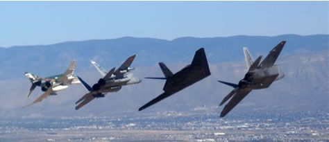 F-4, F-15, F-117 & F-22, the only air show where the F-117 and F -22 flew together, Holloman AFB, NM: F 22 Raptor, Military Aircraft, Airplanes, F22, F15, Eagles, Aircraft Photos, Jet